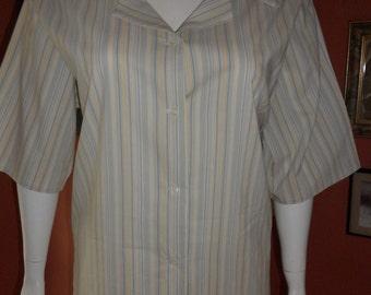 SALE - Plus Size Pinstripe Blouse XL 26/28