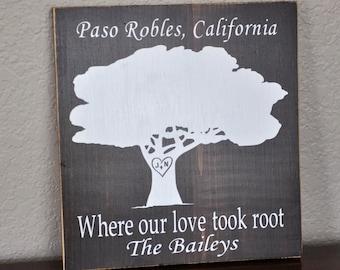 Large San Luis Obispo California Subway Art Wooden Sign
