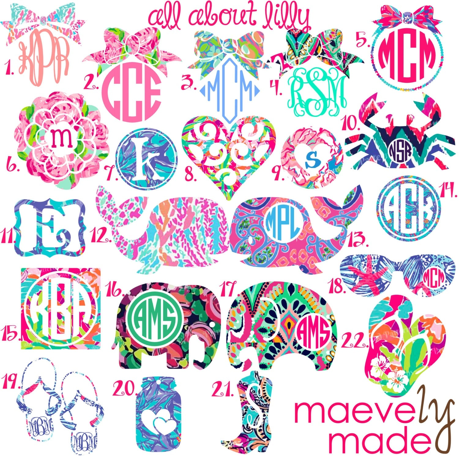 All About Lilly Monogram Personalized Design By Maevelymade