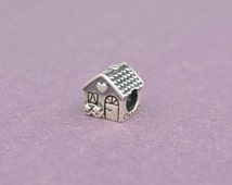 Home Sweet Home Sterling Silver Charm House Charm,925 Sterling Silver Charm for Pandora Bracelet Any European Style Bracelet Necklace Chain