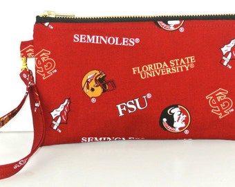 FSU Purse, Florida State University Seminoles Purse, small bag, FSU Wristlet
