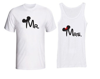 Mr. & Mrs. Disney Shirts