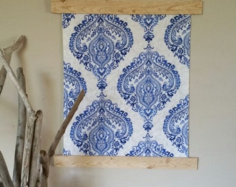 Bohemian Tapestry -Blue and White Damask
