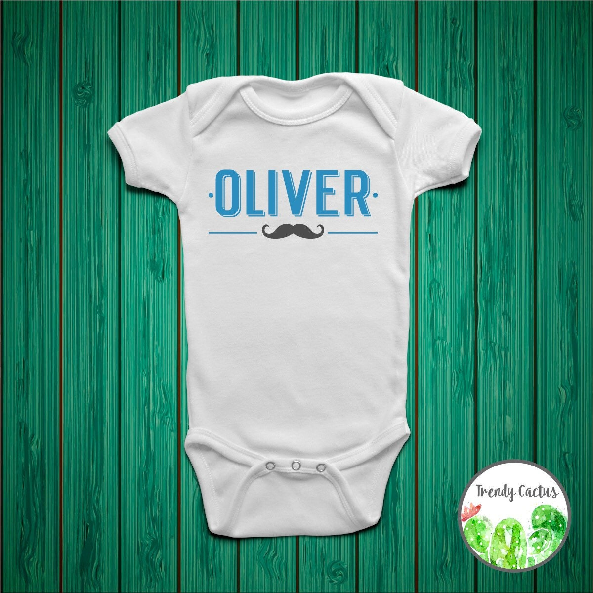 Custom Baby Boy Onesie Toddler Shirt Personalized by ...