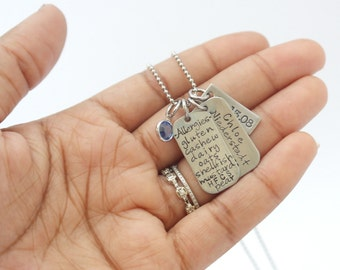 Kids Safety Necklace Personalized Necklace Allergy