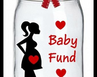 Baby Fund Jar, Pregnancy Bank, Savings Jar, New Baby Fund, Personalized Coin Jar, Savings Bank, Baby Bank, Baby Shower Gift, Money Jar, Bank
