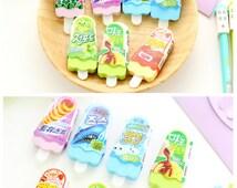 Kawaii Mini Ice Cream Eraser   Back to School   Art and Craft   Craft Ideas   Kawaii Stationery