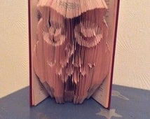 owl book folding pattern 230 folds PATTERN ONLY, animal folding pattern,bird book folding pattern,book art,sleeping owl book folding pattern