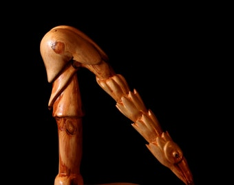 "Wood Carving, Wood Sculpture, Abstract Bird, ""Poise"""