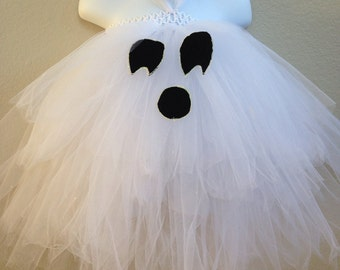 ghost costume, ghost tutu, toddler Halloween costume, ghost tutu, girls' Halloween costume