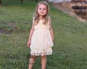 Sophie flower girl dress-ivory flower girl dress-girls lace dress-lace dress-toddler lace dress-boho girl dress-flower girl dress