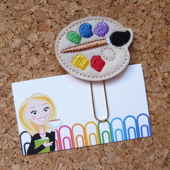 Felt Paint Paper Clip Art Teacher Bookmark Planner Clip