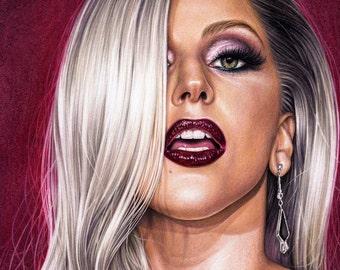 Original Lady Gaga drawing (30x42 cm)