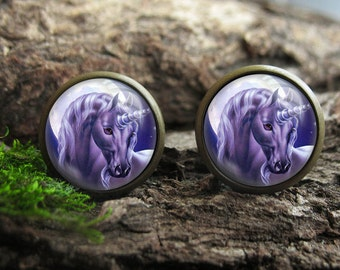 purple unicorn stud earrings purple unicorn stud earings purple earrings purple unicorn earrings unicorn jewlery purple studs unicorns