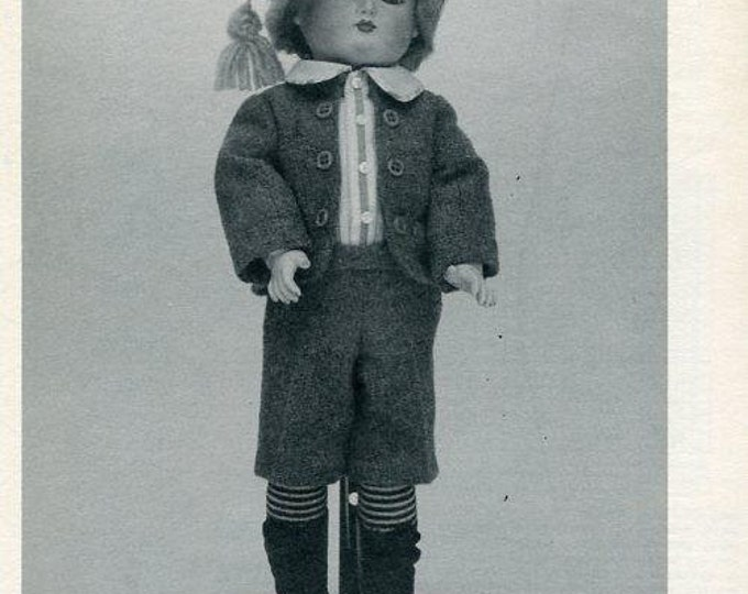 FREE US SHIP Byron Doll Pattern by-67 Petit Et Dumontier Steven 12.5 1982 New Old Store Stock Sewing Pattern