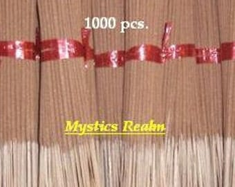 "Unscented Incense Sticks ~ 1000 pcs per bundle Incense Sticks ~ 11"" Incense Sticks Unscented ~ Wholesale Unscented Incense ~ Mystics Realm"