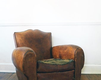ON SALE! Deco Leather Club Chair