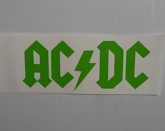 AC/DC Logo Vinyl Decal Sticker - Free delivery!