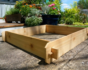 Perfect 3x3 Cedar Flower Bed, Cedar Planter, Vegetable Garden Box Outdoor Planter  Large Planter Herb