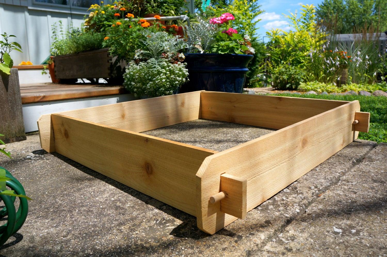 3x3 Cedar Flower Bed Cedar Planter Vegetable Garden Box