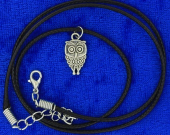 Owl Necklace Small Pendant Silver Color