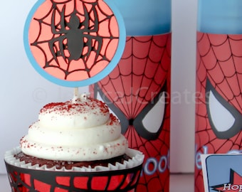 Cupcake Toppers - Spider-man Cupcake Toppers - Superhero Cupcake Toppers - Marvel Cupcake Toppers - Cupcakes - Spiderman Party Decorations