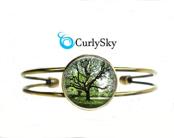 Olive Green Bracelet Forest Tree Bracelet Olive Forest Bracelet Forest Green Bangle Forest Bracelet Forest Tree Bangle Forest Tree Bangle
