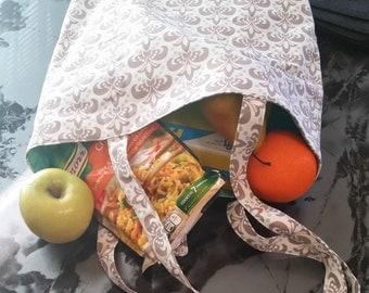 Reusable Market Bag, Reusable Fold-up Market Bag, Reusable Grocery Tote, Reusable Grocery Bag, Reusable Market Tote, Fold-up Market Bag