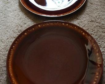 Taylor Smith Ironstone USA, Brown Drip Entree Plate