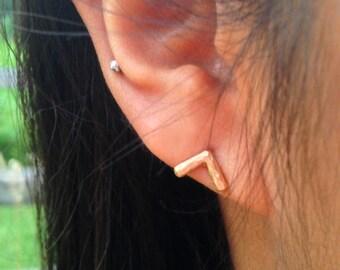 Chevron Earrings Native American Jewelry Simple Metal Arrow