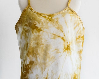 Spaghetti Strap Camisole Top - Naturally Hand Dyed Top - Eco Dyed Cami Top - Eco Friendly - Earthy -   Hippie Fashion for Plus Sizes - 3XL