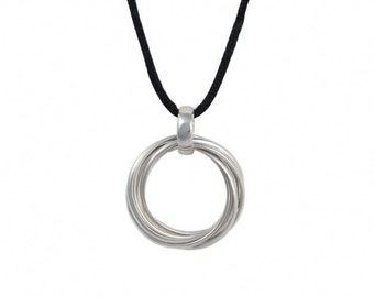 Silver Pendant with Cord