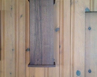 Walnut & Ash hanging wall cabinet