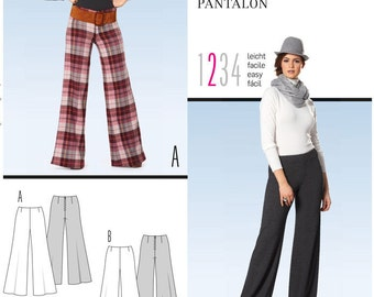 Burda sewing pattern - mod pants - Size 6-20