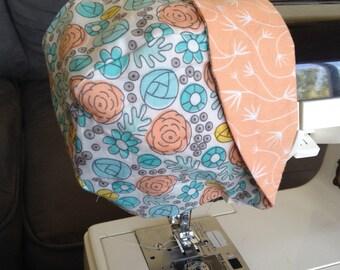 Floral/Coral Baby Bonnet