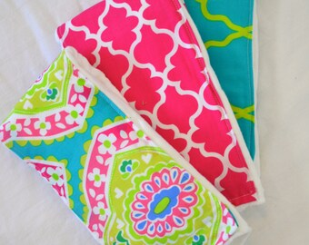 Summer Sass ~ Burp Cloths ~ Set of 3