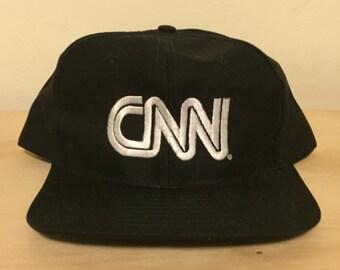 vintage cnn television snapback hat