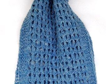 Hand-knit wool scarf