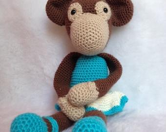 Crochet Monkey Blue