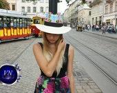 Flowers Hat,Summer Hat, Fashion Hat,Beach Hat, Sun Hat,Dress Hat,Style Hat,Women Hat,Fedora Hat, Straw Hat, Palm Hat, Pool Hat,Boho Hat,