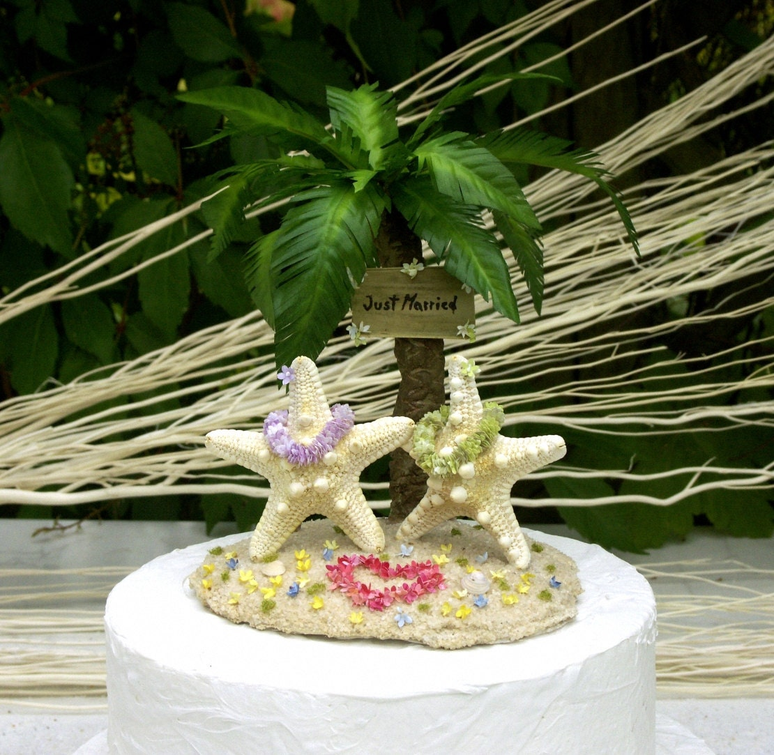 island wedding cakes starfish island wedding cake topper 16499