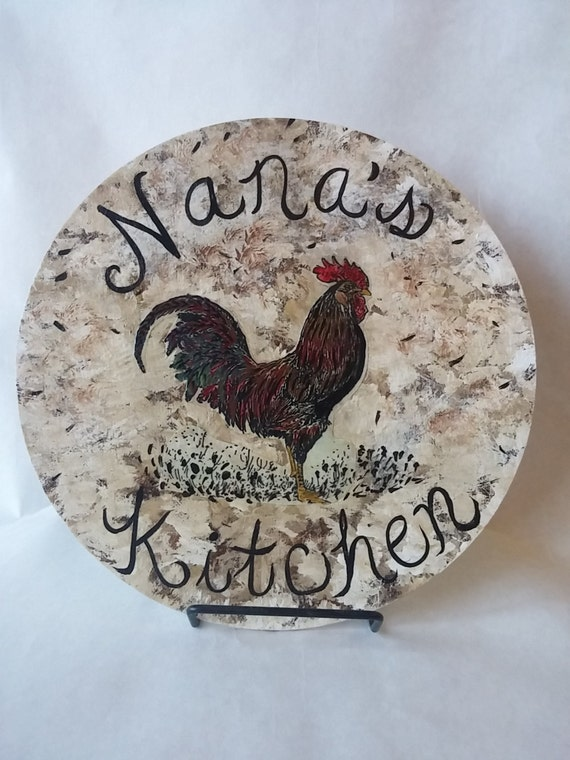 Rustic Rooster Wall Decor : Rustic kitchen decor wall rooster art