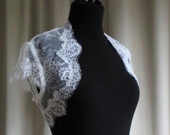 Ivory lace bolero jacket, S10