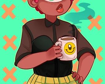 "Monster Girl Print - ""Cyclops"" (11x17)"