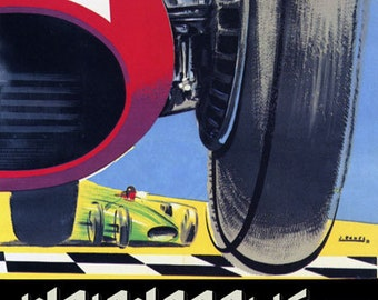 Car Automobile Race Grand Prix Indianapolis Motor Speedway American Vintage Poster Repro FREE SHIPPING