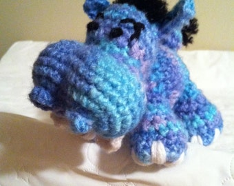 Mini Crochet Hippopotamus Stuffed Animal