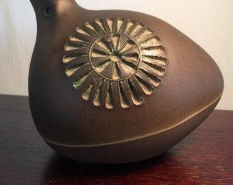 Handmade Ceramic Bird by Tomas Anagrius Sweden Vintage