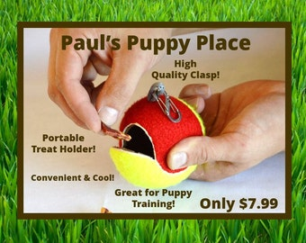 Portable Dog Treat Holder/Dispenser w/ Leash Clasp