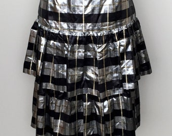 1980's JH Collectibles VINTAGE SKIRT-Heavy Metal Plaid Skirt