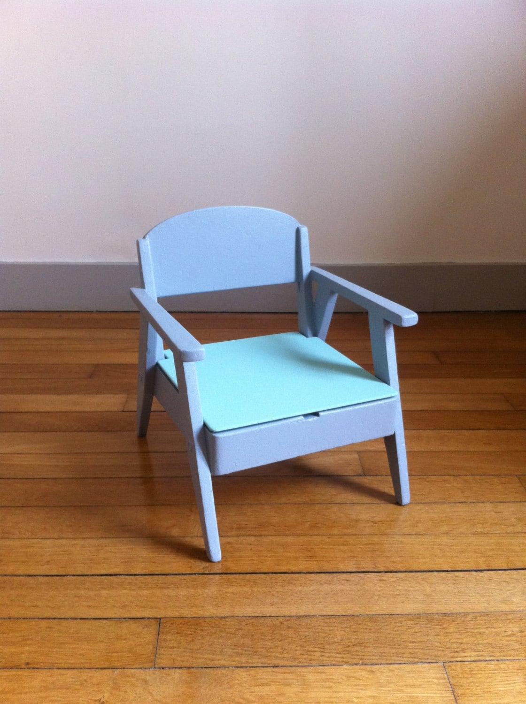 Petite chaise pot enfant vintage haute juice - Chaise enfant accoudoir ...